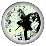 Mint Wall Wall Clocks (Silver)