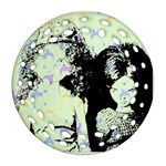Mint Wall Round Filigree Ornament (Two Sides)