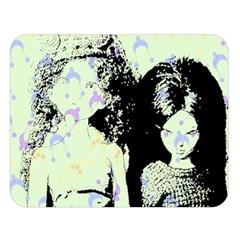 Mint Wall Double Sided Flano Blanket (large)  by snowwhitegirl