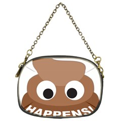 Poo Happens Chain Purses (two Sides)  by Vitalitee