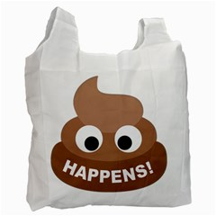 Poo Happens Recycle Bag (one Side) by Vitalitee