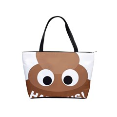 Poo Happens Shoulder Handbags by Vitalitee