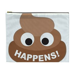 Poo Happens Cosmetic Bag (xl) by Vitalitee