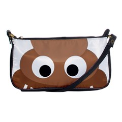 Poo Happens Shoulder Clutch Bags by Vitalitee