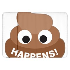 Poo Happens Samsung Galaxy Tab 8 9  P7300 Flip Case by Vitalitee