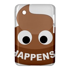 Poo Happens Samsung Galaxy Tab 2 (7 ) P3100 Hardshell Case  by Vitalitee