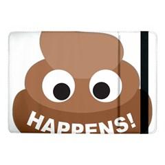 Poo Happens Samsung Galaxy Tab Pro 10 1  Flip Case by Vitalitee