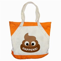 Poo Happens Accent Tote Bag by Vitalitee