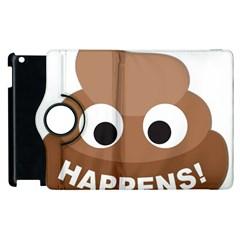 Poo Happens Apple Ipad 2 Flip 360 Case by Vitalitee