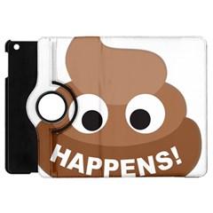 Poo Happens Apple Ipad Mini Flip 360 Case by Vitalitee