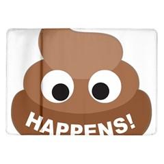 Poo Happens Samsung Galaxy Tab 10 1  P7500 Flip Case by Vitalitee