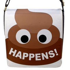 Poo Happens Flap Messenger Bag (s) by Vitalitee