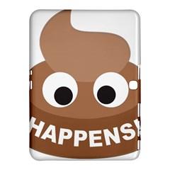 Poo Happens Samsung Galaxy Tab 4 (10 1 ) Hardshell Case  by Vitalitee