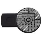 Wavy Panels USB Flash Drive Round (2 GB)