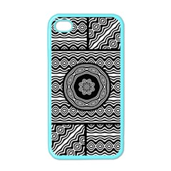 Wavy Panels Apple Iphone 4 Case (color) by linceazul