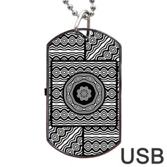 Wavy Panels Dog Tag Usb Flash (two Sides) by linceazul