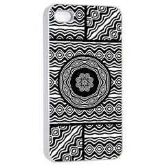 Wavy Panels Apple Iphone 4/4s Seamless Case (white) by linceazul