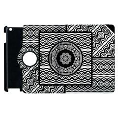 Wavy Panels Apple Ipad 2 Flip 360 Case by linceazul