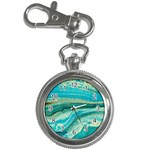 Mint,gold,marble,nature,stone,pattern,modern,chic,elegant,beautiful,trendy Key Chain Watches