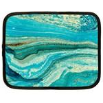 Mint,gold,marble,nature,stone,pattern,modern,chic,elegant,beautiful,trendy Netbook Case (Large)