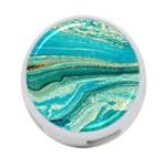 Mint,gold,marble,nature,stone,pattern,modern,chic,elegant,beautiful,trendy 4-Port USB Hub (One Side)
