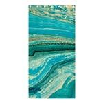 Mint,gold,marble,nature,stone,pattern,modern,chic,elegant,beautiful,trendy Shower Curtain 36  x 72  (Stall)