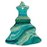 Mint,gold,marble,nature,stone,pattern,modern,chic,elegant,beautiful,trendy Ornament (Christmas Tree)