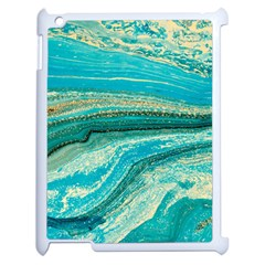Mint,gold,marble,nature,stone,pattern,modern,chic,elegant,beautiful,trendy Apple Ipad 2 Case (white) by 8fugoso