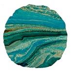 Mint,gold,marble,nature,stone,pattern,modern,chic,elegant,beautiful,trendy Large 18  Premium Round Cushions