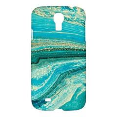 Mint,gold,marble,nature,stone,pattern,modern,chic,elegant,beautiful,trendy Samsung Galaxy S4 I9500/i9505 Hardshell Case by 8fugoso