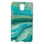 Mint,gold,marble,nature,stone,pattern,modern,chic,elegant,beautiful,trendy Samsung Galaxy Note 3 N9005 Hardshell Case