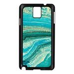 Mint,gold,marble,nature,stone,pattern,modern,chic,elegant,beautiful,trendy Samsung Galaxy Note 3 N9005 Case (Black)