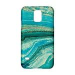 Mint,gold,marble,nature,stone,pattern,modern,chic,elegant,beautiful,trendy Samsung Galaxy S5 Hardshell Case