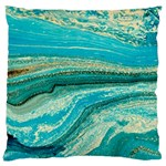 Mint,gold,marble,nature,stone,pattern,modern,chic,elegant,beautiful,trendy Standard Flano Cushion Case (Two Sides)