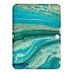 Mint,gold,marble,nature,stone,pattern,modern,chic,elegant,beautiful,trendy Samsung Galaxy Tab 4 (10.1 ) Hardshell Case