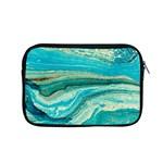 Mint,gold,marble,nature,stone,pattern,modern,chic,elegant,beautiful,trendy Apple MacBook Pro 15  Zipper Case