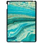 Mint,gold,marble,nature,stone,pattern,modern,chic,elegant,beautiful,trendy Apple iPad Pro 9.7   Black Seamless Case