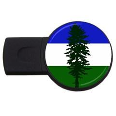 Flag Of Cascadia Usb Flash Drive Round (2 Gb) by abbeyz71