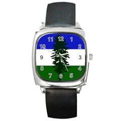 Flag Of Cascadia Square Metal Watch by abbeyz71