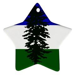 Flag Of Cascadia Star Ornament (two Sides) by abbeyz71