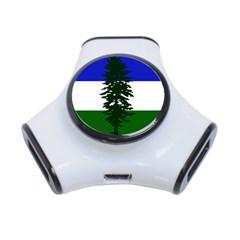 Flag Of Cascadia 3 Port Usb Hub by abbeyz71