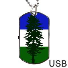Flag Of Cascadia Dog Tag Usb Flash (two Sides) by abbeyz71
