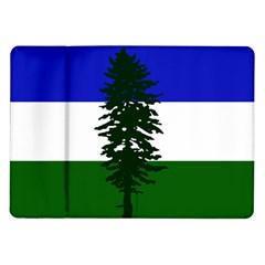 Flag Of Cascadia Samsung Galaxy Tab 10 1  P7500 Flip Case by abbeyz71