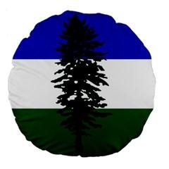 Flag Of Cascadia Large 18  Premium Flano Round Cushions by abbeyz71