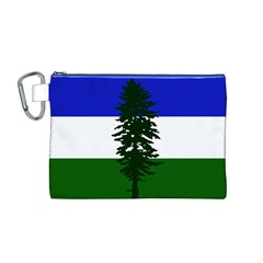 Flag Of Cascadia Canvas Cosmetic Bag (m) by abbeyz71
