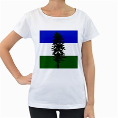 Flag Of Cascadia Women s Loose Fit T Shirt (white) by abbeyz71
