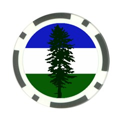 Flag Of Cascadia Poker Chip Card Guard by abbeyz71