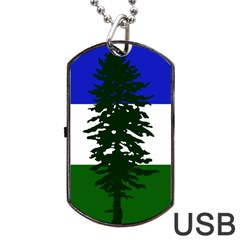 Flag Of Cascadia Dog Tag Usb Flash (two Sides) by abbeyz71