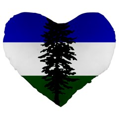 Flag Of Cascadia Large 19  Premium Heart Shape Cushions by abbeyz71