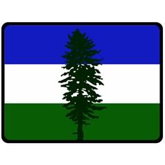 Flag Of Cascadia Fleece Blanket (large)  by abbeyz71